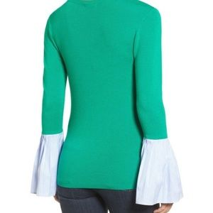 BNWT Halogen Poplin Bell Cuff Sweater